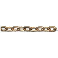 Grade 70 Transport Chain, Size 5/16 in, 550 ft, 4700 lb Limit, Yellow Dichromate