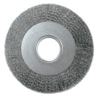 Anderson Brush Medium Face Crimped Wire Wheels-DA Series | Med. Crimped Wire Wheel-DA Series, 7 D x 1 1/8 W, .014 Carbon Steel, 6,000 rpm