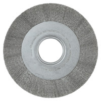 Anderson Brush Medium Face Crimped Wire Wheels-DA Series | Med. Crimped Wire Wheel-DA Series, 8 D x 1 1/8 W, .006 Stainless St., 4,500 rpm
