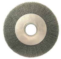 Anderson Brush Medium Face Crimped Wire Wheels-DA Series | Med. Crimped Wire Wheel-DA Series, 10 D x 1 1/4 W, .014 Carbon Steel, 3,600 rpm