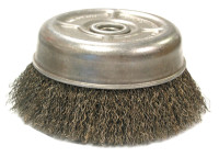 Anderson Brush Crimped Wire Cup Brushes | Crimped Wire Cup Brushes, 3 in D, 5/8 in-11 Arbor, 0.014 in Stainless Steel Wire