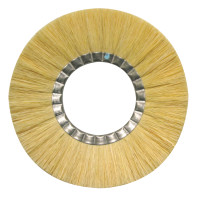 Anderson Brush TAM-N Untreated Tampico Non-Metallic Wheel Brushes | TAM-N Untreated Tampico Non-Metallic Wheel Brush, 8 in D x 17/32 in W, 5,000 rpm