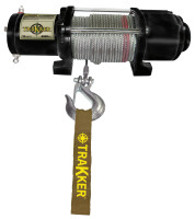 Keeper Tracker ATV/UTV Series 12 Volt DC Electric Winches, 4,400 lb Load Cap.