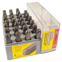 C.H. Hanson® Heavy Duty Steel Hand Stamp Sets