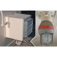Justrite Interior Light-Fan Package-Outdoor Safety Locker