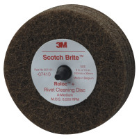 3M™ Abrasive Scotch-Brite™ Rivet Cleaning Discs | Scotch-Brite Rivet Cleaning Discs, Aluminum Oxide, 4 in Dia x 1.25 in Thick