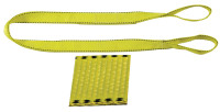 Pro-Edge Web Slings, 2 in x 10 ft, Eye To Eye, Polyester, Yellow