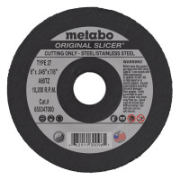 Metabo Original Slicer Cutting Wheels | Slicer Cutting Wheel, 6 in Dia, .045 in Thick, 60 Grit Aluminum Oxide