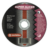 Metabo Super Splicer Extreme Performance Cutting Wheels | Cutting Wheel, 4 1/2 in Dia, .045 in Thick, 60 Grit Alum. Oxide