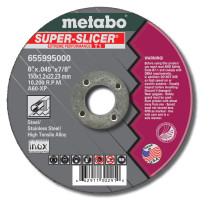 Metabo Super Splicer Extreme Performance Cutting Wheels | Cutting Wheel, 6 in Dia, .045 in Thick, 7/8 in Arbor, 60 Grit Alum. Oxide