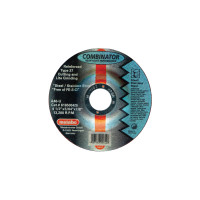 Metabo Type 27 Combination Grinding/Cutting Wheels | Wheel, 4 1/2 in Dia, 0.45 in Thick, A 46 U Grit Stainless Steel