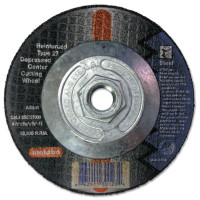 Metabo Type 27 Depressed Center Cutting Wheels | Depressed Center Cutting Wheel, Type 27, 4 1/2 in Dia Aluminum Oxide