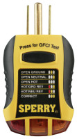 Sperry Instruments GFCI Outlet Testers