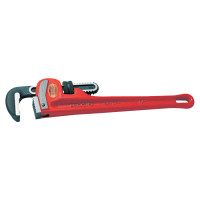 Heavy-Duty Straight Pipe Wrenches, Alloy Steel Jaw, 14 in
