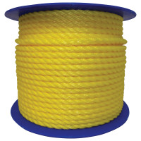 Monofilament Twisted Poly Ropes, 600 ft, Polypropylene