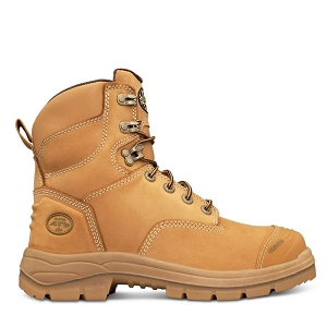 (NEW) Oliver 55 Series 7 In. Tan Lace-Up Work Boot