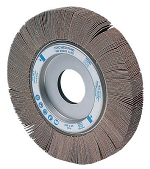 Pferd Arbor Hole Flap Wheels | Arbor Hole Flap Wheels, 6 in x 2 in, 40 Grit, 6,000 rpm
