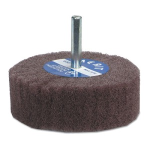 Merit Abrasives Non-Woven Flap Wheels with Mounted Steel Shank | Non-Woven Flap Wheels with Mounted Steel Shank, 2 in, 320 Grit, 12,000 rpm