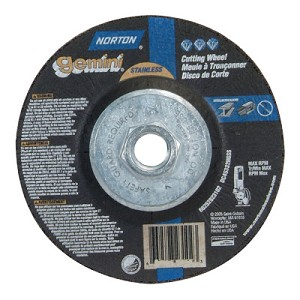 Norton Gemini RightCut Depressed Center Cut-Off Wheels | Gemini RightCut Depressed Center Cut-Off Wheel, 5