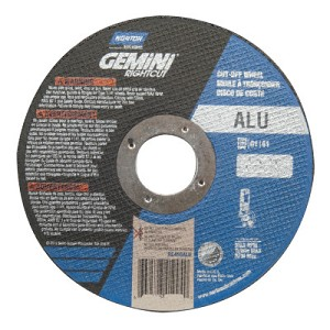 Norton Gemini RightCut Cut-Off Wheels | Gemini RightCut Cut-Off Wheels, 6 in Dia, Coarse Grit, Contaminant Free