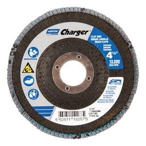 Norton Type 29 Flap Discs | Type 29 Flap Discs, 4 1/2 in Dia., 80 Grit, 7/8 in, 13,000 rpm, Type 29