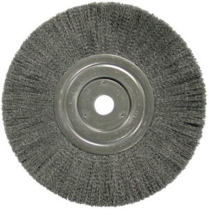 Weiler® Narrow Face Crimped Wire Wheels | Narrow Face Crimped Wire Wheel, 8 in D, .006 Steel Wire