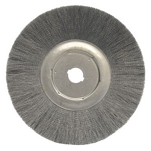 Weiler® Narrow Face Crimped Wire Wheels | Narrow Face Crimped Wire Wheel, 12 in D, .0104 Steel, 1 1/4 in Arbor