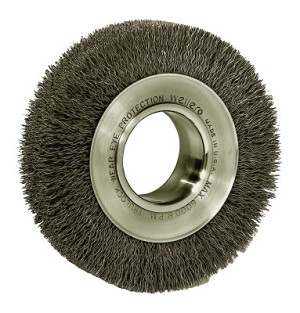 Weiler® Wide-Face Crimped Wire Wheels | Wide-Face Crimped Wire Wheel, 6