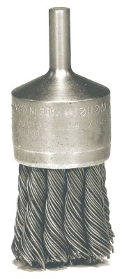 Weiler® Knot Wire End Brushes | Hollow-End Knot Wire End Brush, Stainless Steel, 22,000 rpm, 3/4