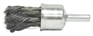 Weiler® Knot Wire End Brushes | Knot Wire End Brushes, Stainless Steel, 1/2 in Dia, 1 1/8 in x .0104 Trim