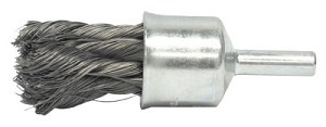 Weiler® Knot Wire End Brushes | Knot Wire End Brushes, Steel, 20000 rpm, 1/2in Dia, 1 1/8 in x .014 Trim