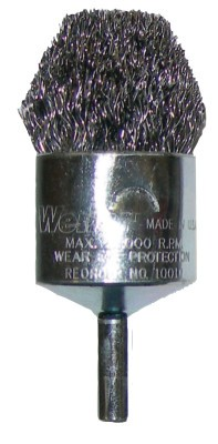 Weiler® Controlled Flare End Brushes | Controlled Flare End Brushes, Stainless Steel, 22,000 rpm, 1""