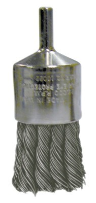 Weiler® Nickel Plated End Brushes | Nickel Plated End Brushes, Stainless Steel, 22,000 rpm, 1 1/8