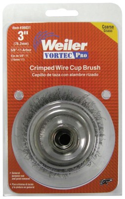 Weiler® Vortec Pro® Crimped Wire Cup Brushes | Vortec Pro Crimped Wire Cup Brush, 3
