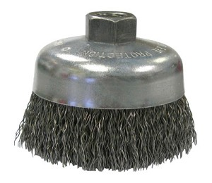 Weiler® Vortec Pro® Crimped Wire Cup Brushes | Vortec Pro Crimped Wire Cup Brush, 6