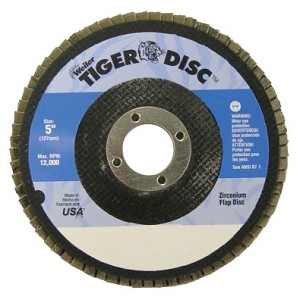 Weiler® Tiger Disc® Flat Style Flap Discs | Tiger Disc Flat Style Flap Discs, 5