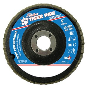 Weiler® Tiger Paw™ Coated Abrasive Flap Discs | Tiger Paw Coated Abrasive Flap Discs, 4