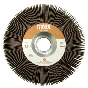 Weiler® Tiger® Unmounted Flap Wheels | Tiger® Unmounted Flap Wheels, 6 in, 80 Grit, 6,000 rpm
