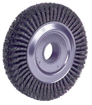 Weiler® Cable Twist Knot Wire Wheels | Cable Twist Knot Wire Wheel, 10 in Diameter