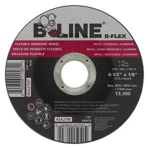 B-Line Abrasives Flexible Depressed Center Wheels | Flexible Depressed Center Wheel, 4 1/2
