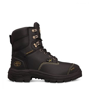 (NEW) Oliver 55 Series 7 In. Black Lace-Up Work Boot